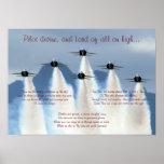 Impresión del vuelo del rezo del aviador posters