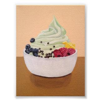 Impresión del yogurt congelado arte fotografico