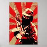 impresión del zapatista por furioso posters