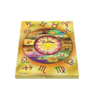 impresión del zodiaco en lona impresion de lienzo