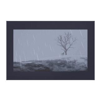 Impresión desapasible de la lona del invierno impresiones en lienzo estiradas