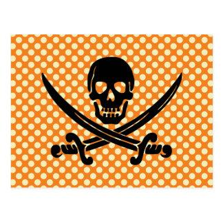 Impresión descarada y dulce del pirata del cráneo postal
