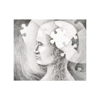 Impresión desconcertada de la lona de la mente impresión en tela