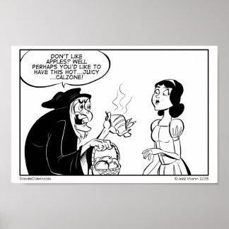 Impresión diaria del Doodle de Calzone del veneno Póster