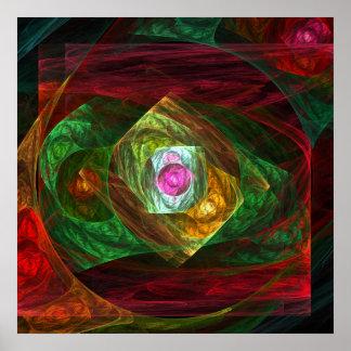Impresión dinámica del arte abstracto de las conex poster