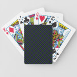 Impresión diseñada escocés del tartán del clan de  baraja de cartas