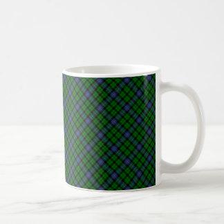 Impresión diseñada escocés del tartán del clan de taza de café