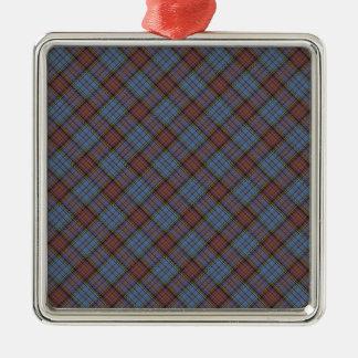 Impresión diseñada tartán del clan de Anderson Adorno Cuadrado Plateado