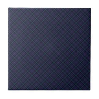 Impresión diseñada tartán del clan de Dickson Azulejo Cuadrado Pequeño