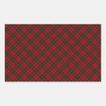 Impresión diseñada tartán del clan de Grant Pegatina Rectangular