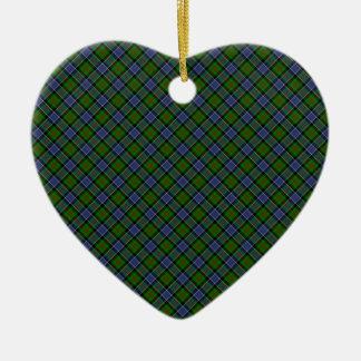 Impresión diseñada tartán del clan de Patterson Adorno Navideño De Cerámica En Forma De Corazón