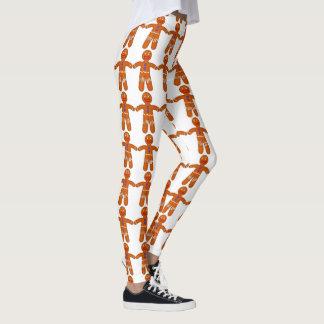 Impresión divertida del hombre de pan de jengibre leggings