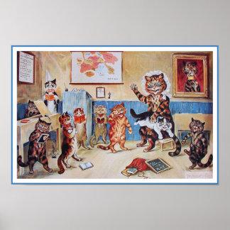 Impresión divertida del poster de los gatos El P