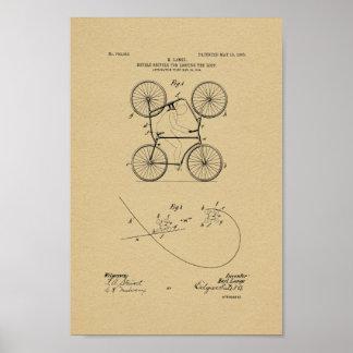 Impresión doble 1905 del arte de la patente de la