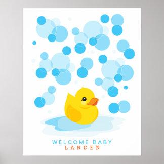 Impresión Ducky de goma del libro de visitas de la Posters