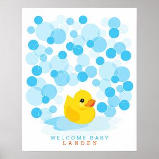 Impresión Ducky de goma del libro de visitas de la Póster