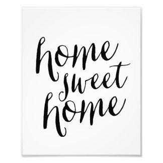 Impresión dulce casera del arte del hogar el   fotografía