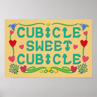 Impresión dulce del cubículo del cubículo póster
