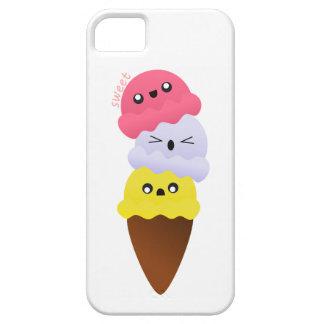 """Impresión """"dulce"""" del helado del kawaii iPhone 5 funda"""