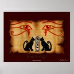 Impresión egipcia del arte de Bastet y de Wadjet Impresiones