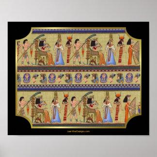 Impresión egipcia del arte de los Hieroglyphics Posters