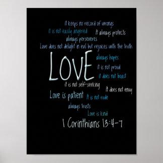 Impresión - el amor es mezcla paciente póster