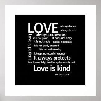 Impresión - el amor es WB al azar paciente Posters