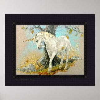 Impresión - el extremo del verano del unicornio póster