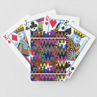 Impresión elegante de la onda en los regalos cartas de juego