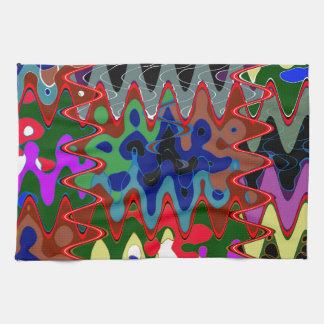 Impresión elegante de la onda en los regalos toallas de mano