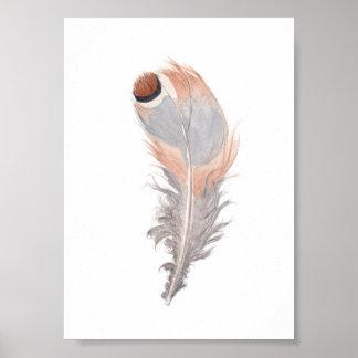 Impresión elegante de la pintura de la acuarela de póster