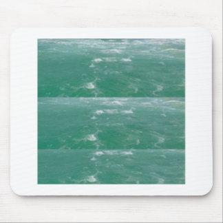 Impresión elegante de las ondas VERDES de MAR Alfombrilla De Ratón