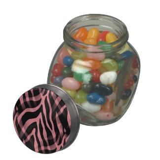 Impresión elegante de las rayas de la cebra del frascos de cristal jelly belly