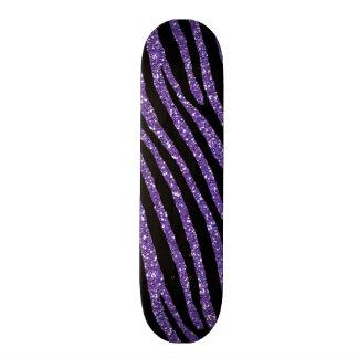 Impresión elegante elegante del brillo púrpura de  tabla de skate