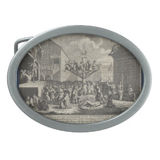 Impresión emblemática de Guillermo Hogarth- del ma Hebilla Cinturon