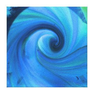 Impresión en colores pastel espiral de cristal del lona estirada galerías