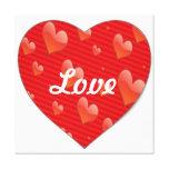 Impresión en forma de corazón de la lona del amor impresión en lienzo estirada