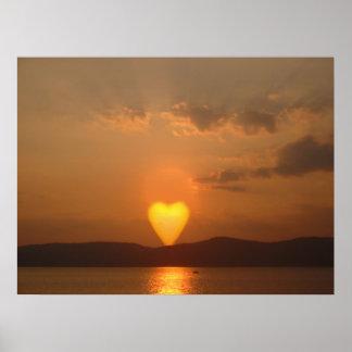 Impresión en forma de corazón de Sun Impresiones