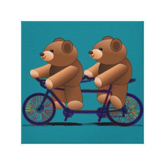 Impresión en tándem del oso de peluche de la lienzo envuelto para galerías