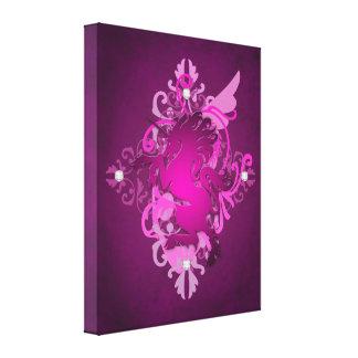 Impresión encantadora de la lona del unicornio ros impresiones en lienzo estiradas