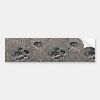 Impresión engrasada del pie pegatina para auto