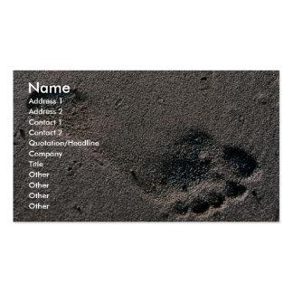 Impresión engrasada del pie tarjeta de visita