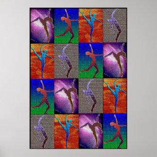 Impresión enmarcada danza posters