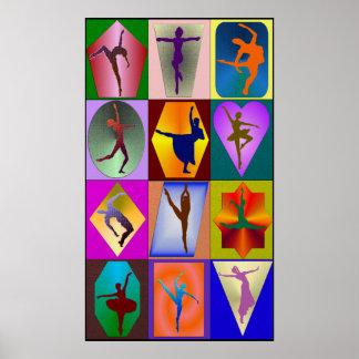 Impresión enmarcada danza póster