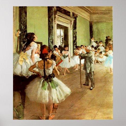 Impresión enmarcada de la clase de danza posters