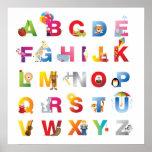 impresión enmarcada del alfabeto impresiones