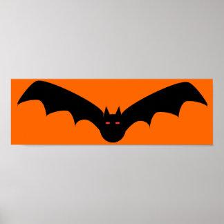 Impresión enmarcada palo de Halloween Poster