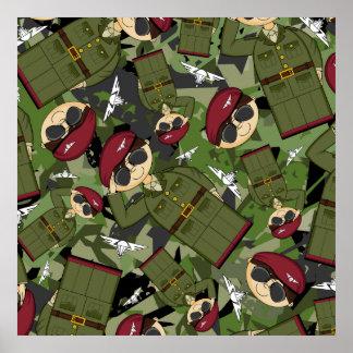 Impresión enmarcada soldado del ejército británico posters