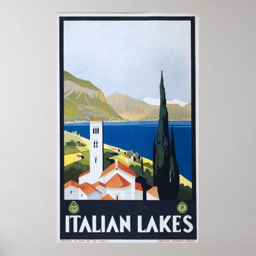 Impresión enmarcada vintage italiano del poster de
