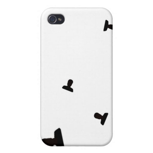 Impresión enojada creciente del icono iPhone 4 funda